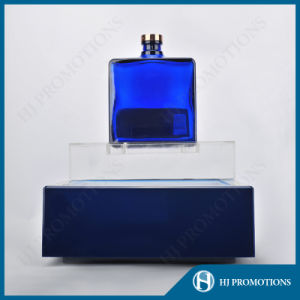 LED Lighting Blue Acrylic Wine Bottle Display Stand (HJ-DWL05) pictures & photos