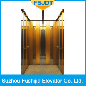 Passenger Lift with Acrylic Light-Emitting Panel Decoration (FSJ-K26) pictures & photos