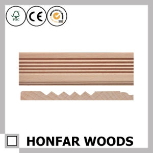 12X80mm Hotel Interior Decor Oak Wood Wall Skirting pictures & photos