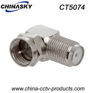 CCTV F Female to F Male Right Angle Connector (CT5074) pictures & photos