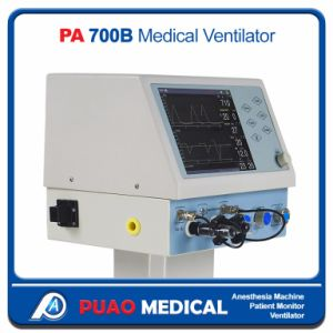 PA-700b Hospital Emergency Ventilator Equipments Ce ISO with Air Compressor pictures & photos