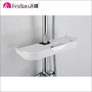 Hot Sale Low Price High Quality Brass  Rain Shower Mixer Faucet with Shelf pictures & photos