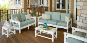 New Hot Modern Wooden Garden Home Living Room Two Seaters Armrest Chairs pictures & photos