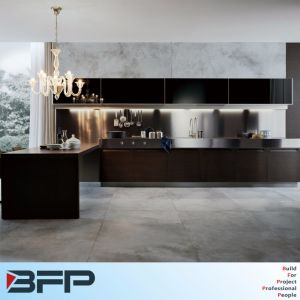 New Modular Rta Kitchen Cupboard Hanging 2 PAC Wall Cabinet with Kitchen Island Wood Benchtop pictures & photos