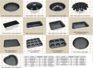 Printing Folwer Carbon Steel Non Stick Cake Mold, Bakeware Set pictures & photos