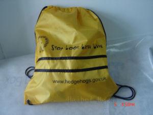 Cmyk Print Reusable Nylon Gymsack, Drawstring Gym Bag pictures & photos