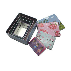 Set Box Christmas Gift Tin Box Wholesale Tin Container for Food pictures & photos
