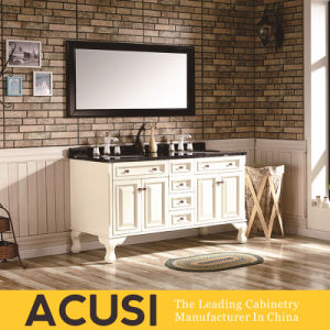 New Premium Simple Style Hot Selling Solid Wood Bathroom Vanity (ACS1-W24) pictures & photos