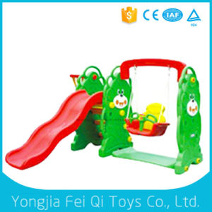 China Manufacturers Fiberglass Playground Slide with Swing and Plastic Basketball Stand for Park pictures & photos