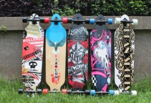 Professional Wooden Skateboards Maple Compressive Strength Drift Skateboard pictures & photos