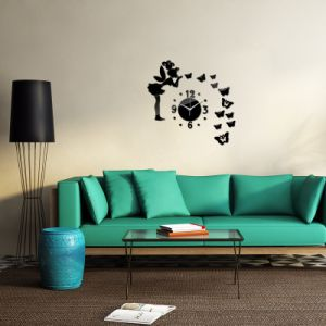 Creative DIY Acrylic Mirror Wall Clock Decals Clocks Home Decoration pictures & photos