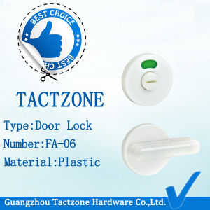 Factory Directly Plastic Door Lock for Toilet Cubicles Partition Hardware pictures & photos