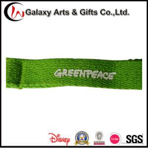Custom Printed Logo Green Cotton Lanyard pictures & photos