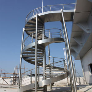 2017 New Design Outdoor Steel Spiral Staircase pictures & photos