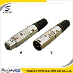 Microphone Audio Plug & Jack 3/4/5/6/7 Pin XLR Connector pictures & photos
