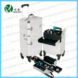 2017 Professional Aluminum Trolley Cosmetic Makeup Case pictures & photos