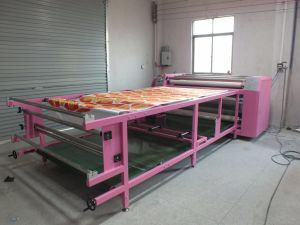 Hot Selling Trend Style 600mm*1.7m Rotary Heat Transfer Machine with Two Heating Roller for Roll Textile Printing pictures & photos