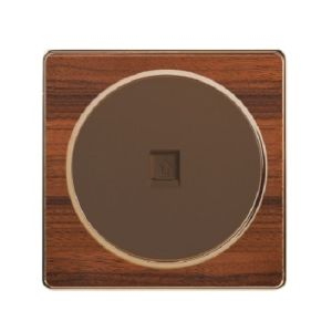 British Standard Wood-Textured 1 Gang Internet/Telephone Socket
