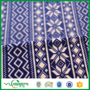 Customized Shrink-Resistant blue Printed Polar Fleece for Blanket pictures & photos