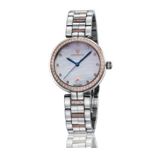 New Fashion Diamond Quartz Stainless Steel Ladies Wrist Watch pictures & photos
