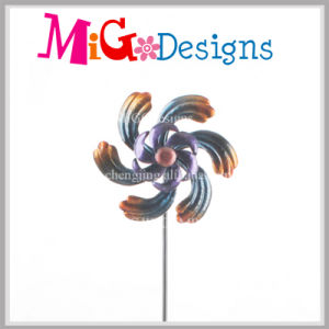 Attractive Metal Flower Wind Spinner Yard Stake pictures & photos