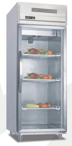 Glass Doors Stainless Steel Commercial Refrigerator with Ce pictures & photos
