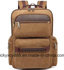 Double Shoulder Business Travel Leisure Computer Canvas Backpack Bag (CY3712) pictures & photos