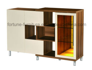Modern Wooden Walnut & White Sideboard (B317) pictures & photos
