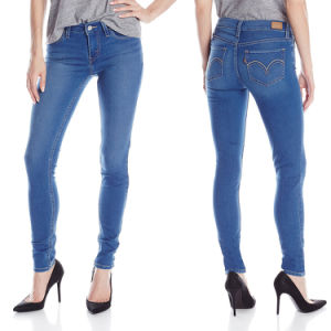 Factory Wholesale Denim Jeans Ladies Skinny Cotton Jeans pictures & photos