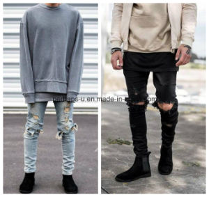 High Quality Havoc Skinny Jeans Men Ripped Pants pictures & photos