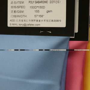 Polyester 150d/48f*150d/48f 2/2twill Dyed Gaberdine for Uniform Workwear Fabric pictures & photos
