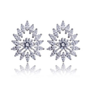 Fashion Earring Designs New Model Sparkling Cubic Zircon Stud Earrings Wholesales pictures & photos