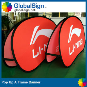 China Factory Direct Advertising Custom Horizontal Pop up a Frame Banner pictures & photos