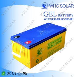 Solar Power High Capacity 12V200ah Solar Battery pictures & photos