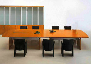 Steel Metal Base MFC Wooden Conference Table /Conference Desk (NS-NW344) pictures & photos