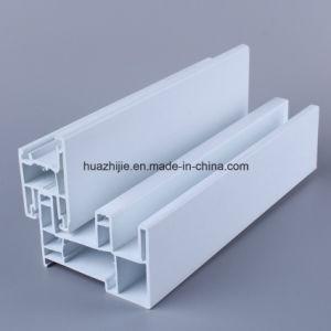 Huazhijie 80mm Series UPVC Sliding Window PVC Profiles pictures & photos