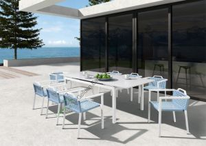 6 Chairs Bistro Dining Table and Chair Set P-Fp0299 pictures & photos