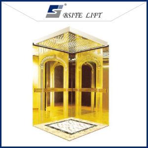 Titanium Golden Stainless Steel Passenger Elevator Residential Lit