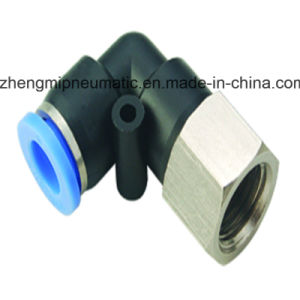 Pneumatic Air Fitting Female Elbow for PU&PA Hose (Metric Size-R(PT) Thread Type) pictures & photos