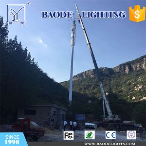 Long Lifetime Telecom Pole Steel Tower with Lighting Function pictures & photos