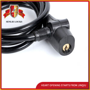 Jq8206-Q High Quality Security Spiral Cable Lock Bicycle Lock pictures & photos