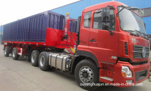 8.5 Meters Flatbed Rear Self-Dump Semitrailer pictures & photos