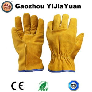 Leather Safety Drivers Work Gloves pictures & photos