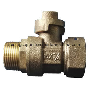 Bronze Lockable Ball Valve with Lockwing pictures & photos