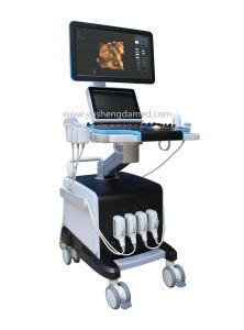 "19"" Medical Equipment Trolley Ultrasound Scanner 4D Color Doppler Ultrasound pictures & photos"