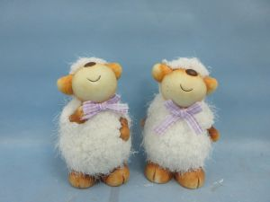 Lovely Sheep Shaped Ceramic Crafts Pet Home Decoration (LOE2592-B13.5) pictures & photos