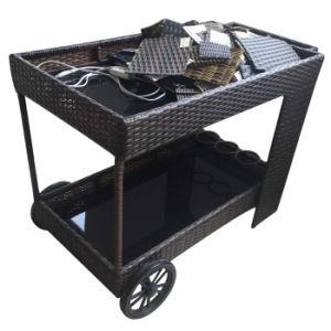 Outdoor Indoor Garden Restaurant Furniture Handmade Rattan Hotel Wheel Barrow Dining Cart /Car pictures & photos