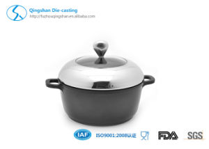 Aluminum Die Casting Non-Stick Soup Pan pictures & photos