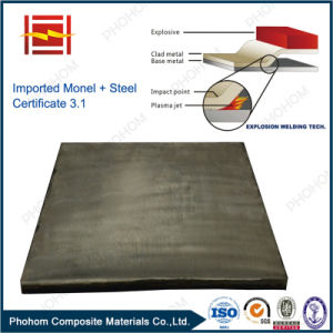 Japan Origin Monel N04400 Clad Carbon Steel Explosive Welding Plate for Petrochemical Pressure Vessels pictures & photos