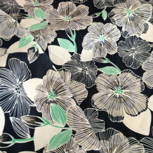 100% Polyester Flower Printing Microfiber Fabric for Beach Short pictures & photos